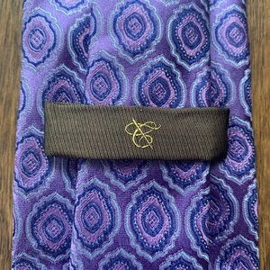 Canali Purple & Blue Recent Silk Tie
